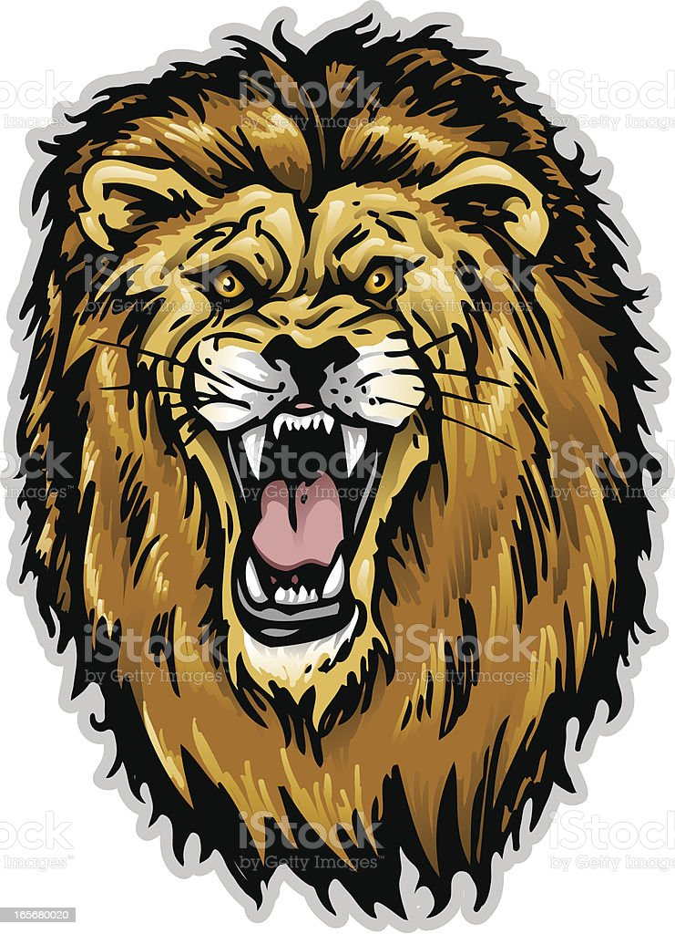 Lion Head royalty-free stock vector art