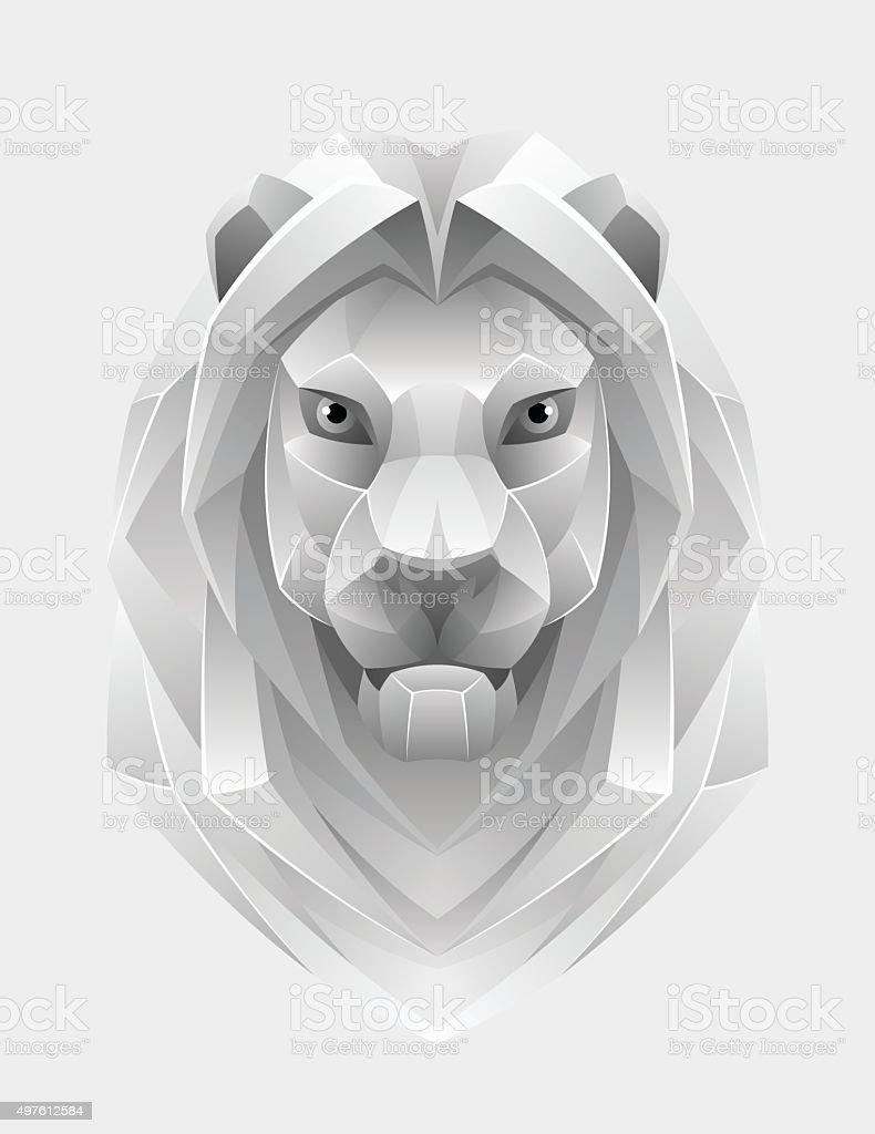 Lion head vector art illustration