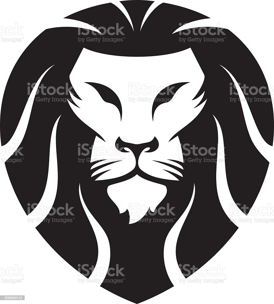 lions head vector clip art, vector images & illustrations - istock