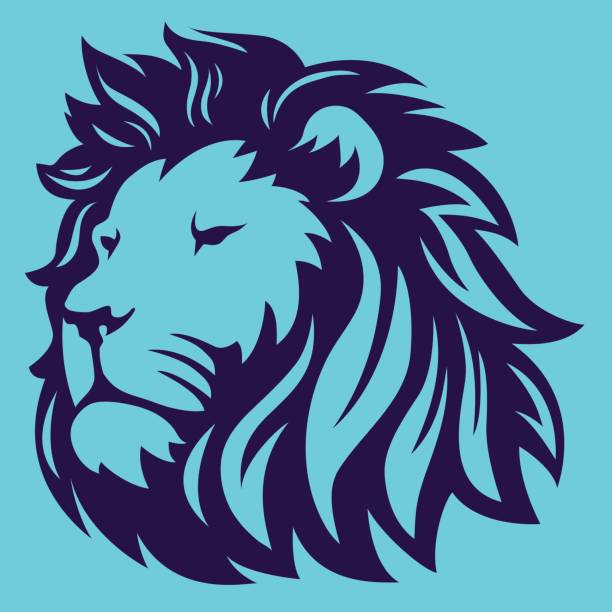 lion head - lion stock illustrations, clip art, cartoons, & icons