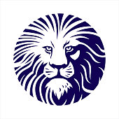 Lion Head , Lion Icon, Lion symbol