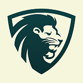 Lion Head , Lion Roar Icon