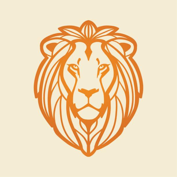 Lion head Lion head, vector illustration lion stock illustrations