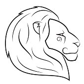 Lion head vector illustration 2