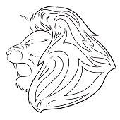 Lion head vector illustration 5
