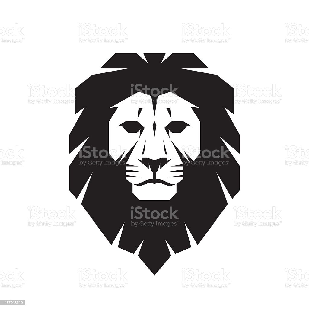 Tête de Lion-illustration vectorielle concept de connexion. - Illustration vectorielle