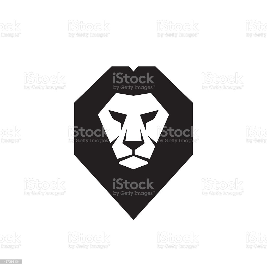 Lion head - vector sign concept illustration. vector art illustration