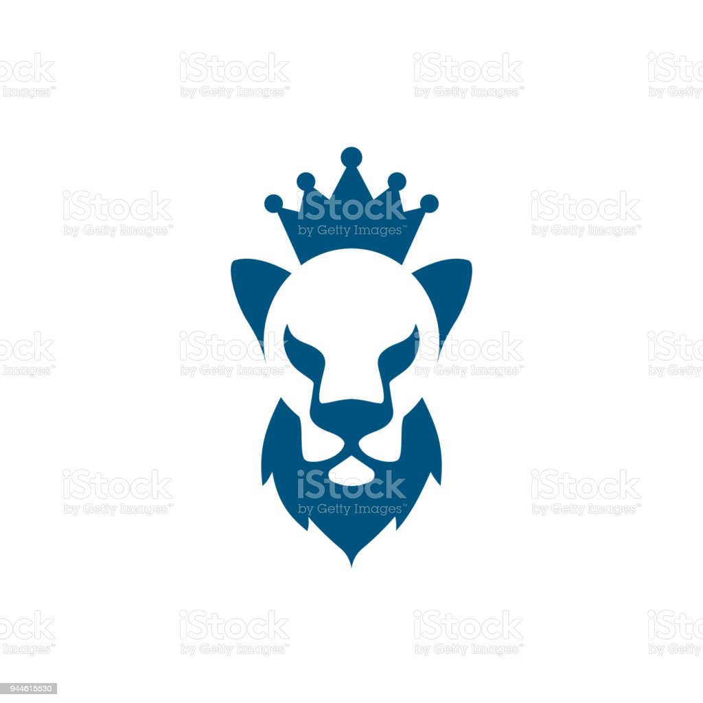 Lion head with beard and crown icon lion king icon idea for the lion head with beard and crown icon lion king icon idea for the business card colourmoves