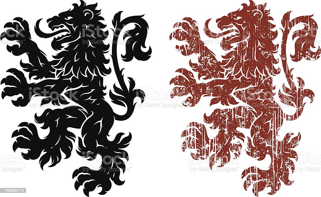 Lion heraldry royalty-free lion heraldry stock vector art & more images of animal