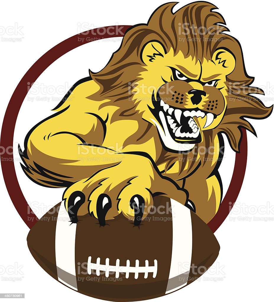 Lion holding football royalty-free lion holding football stock vector art & more images of aggression