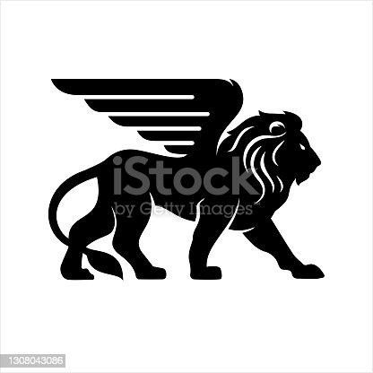istock Lion Icon 1308043086