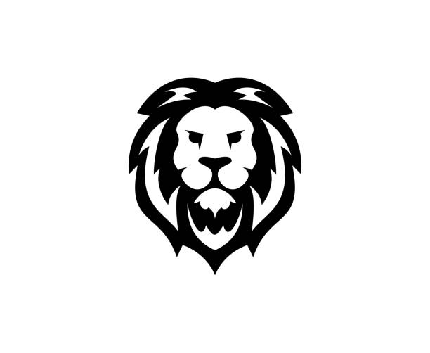 lion icon - lion stock illustrations, clip art, cartoons, & icons