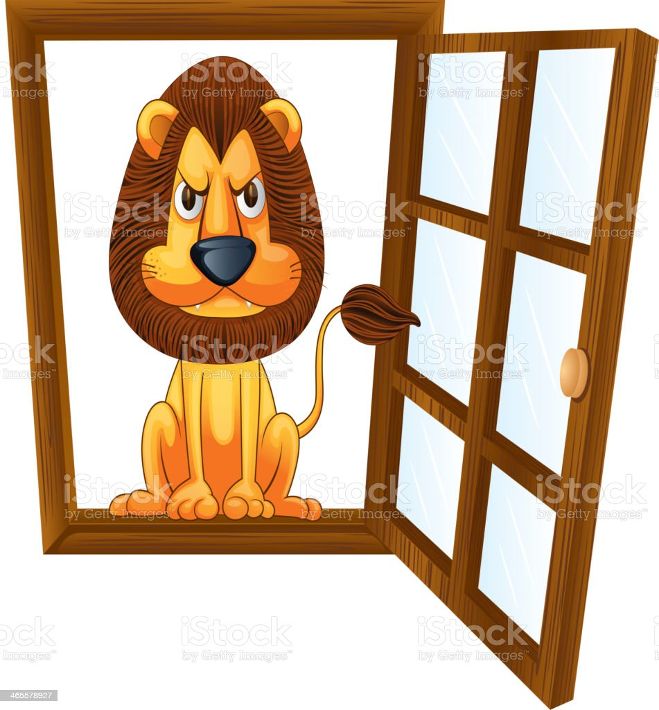 lion in a window royalty-free lion in a window stock vector art & more images of africa