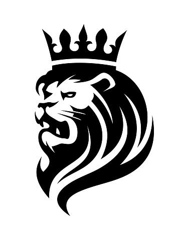 Lion in crown logo