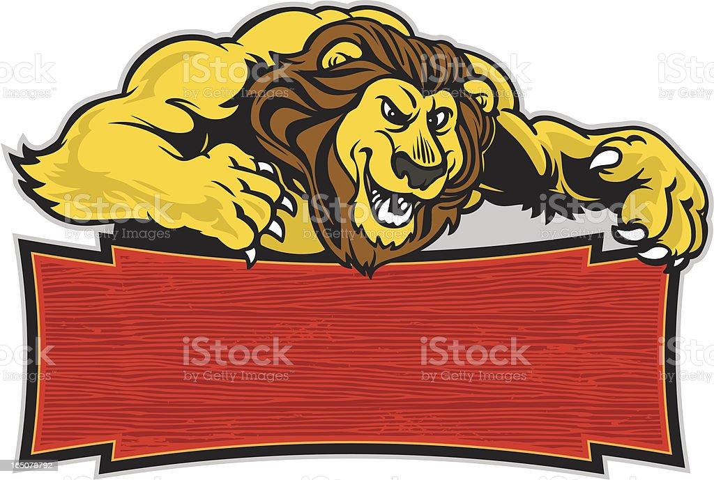 Lion Jump royalty-free stock vector art