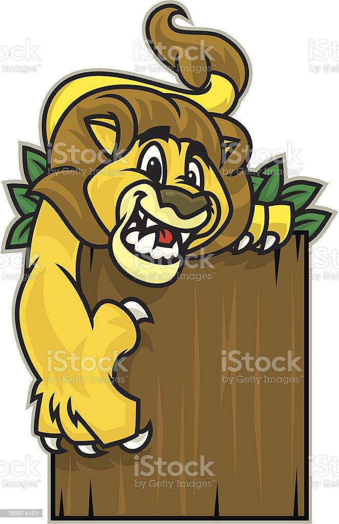 Lion Kid vector art illustration