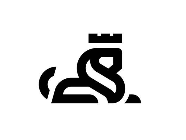 Lion king logo design template. Vector illustration. Lion king logo design template. lion stock illustrations