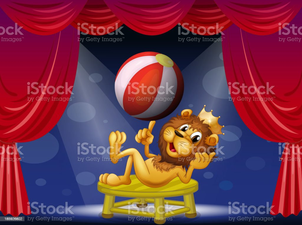 lion king performing on stage royalty-free lion king performing on stage stock vector art & more images of acting