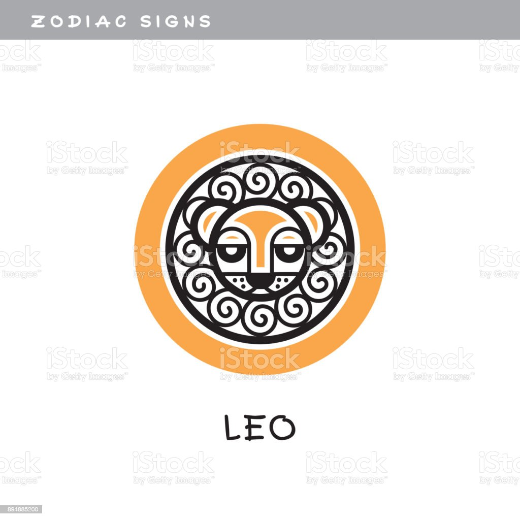 Lion, Leo - vector icon.  , zodiac sign, symbol of astrological calendar. vector art illustration