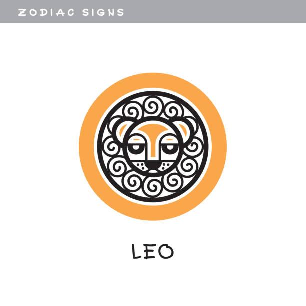 ilustrações, clipart, desenhos animados e ícones de leão, leo - ícone do vetor.  , signo, símbolo de calendário astrológico. - calendário de vida selvagem