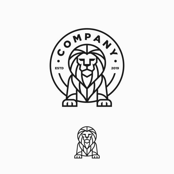 Lion Line Art Design Illustration Vector Template Lion Line Art Design Illustration Vector Template. Suitable for Creative Industry, Multimedia, entertainment, Educations, Shop, and any related business lion stock illustrations