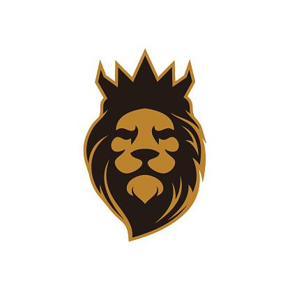 Lion Logo - Crown King Lion Vector