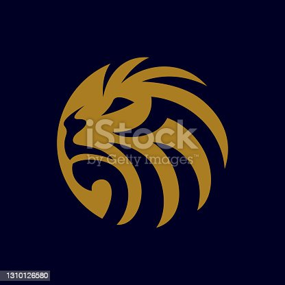 istock Lion logo design 1310126580