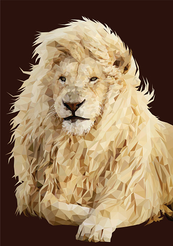 Lion low poly animal vector art