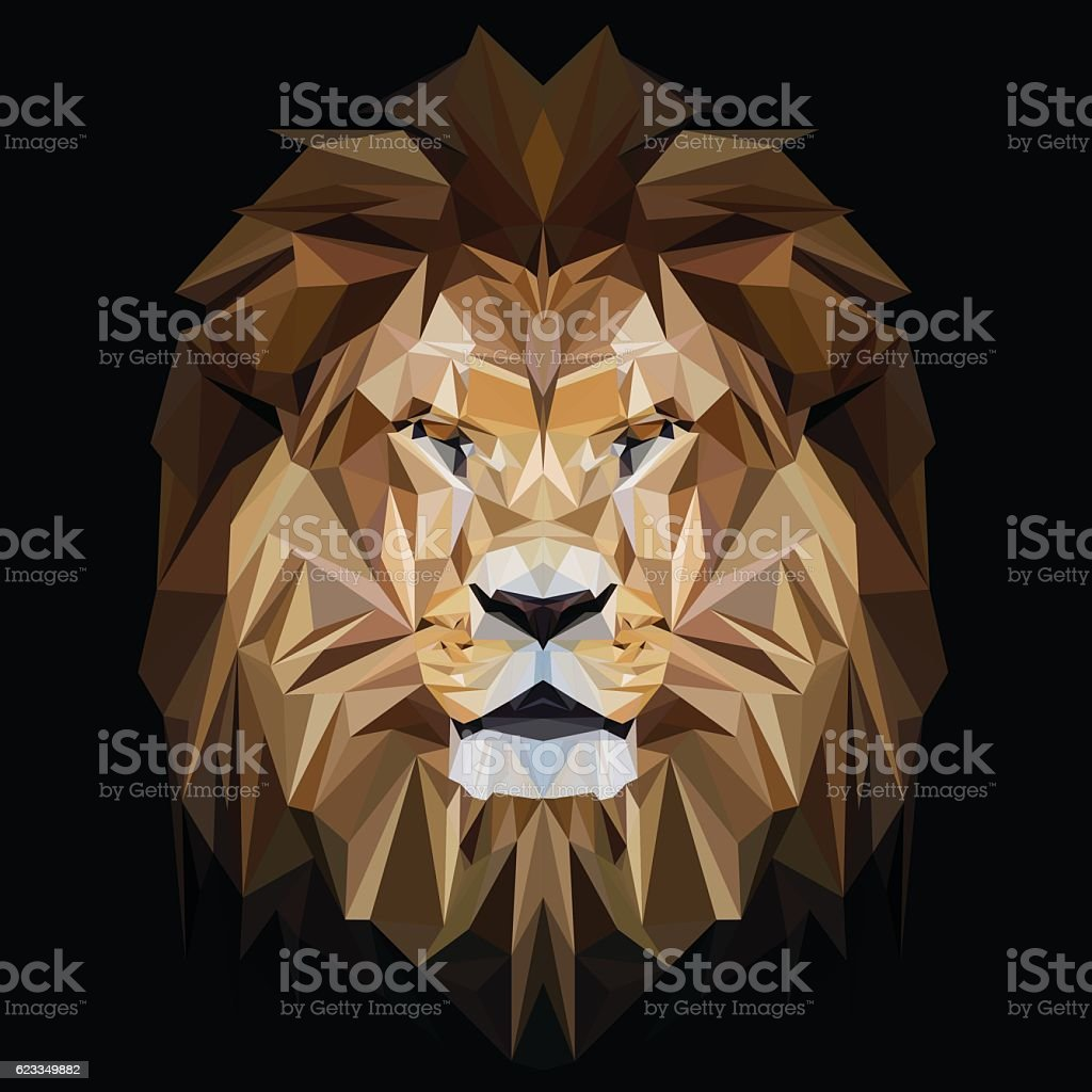 Lion low poly design - Illustration vectorielle