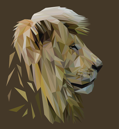 Lion low poly.