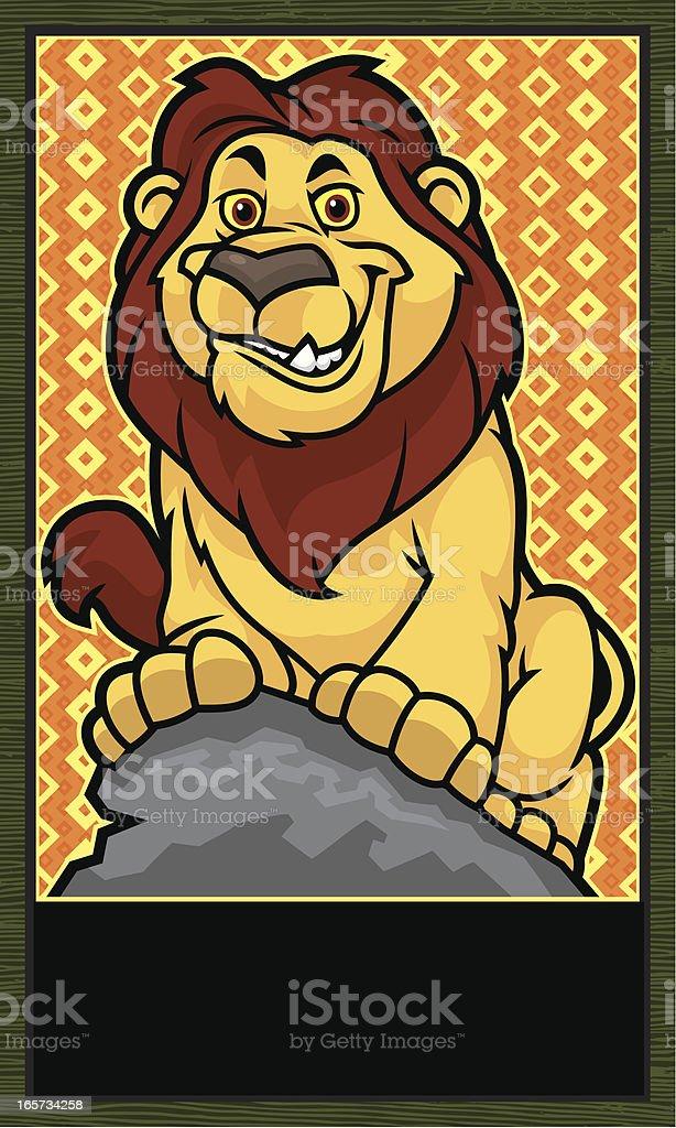 Lion Mascot Banner vector art illustration