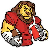 This lion was created with a removable left arm and the chest is intact. Great for any mascot or sports related design.