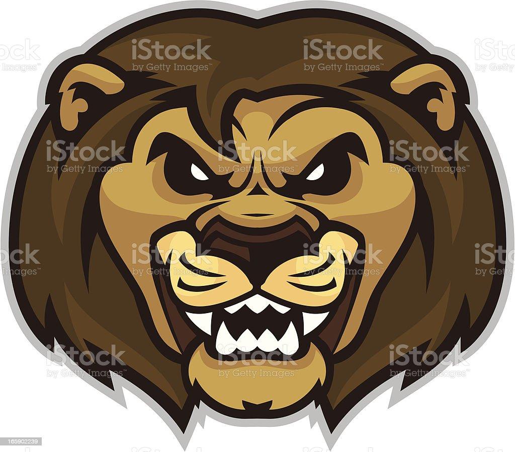 Lion Mascot Head vector art illustration