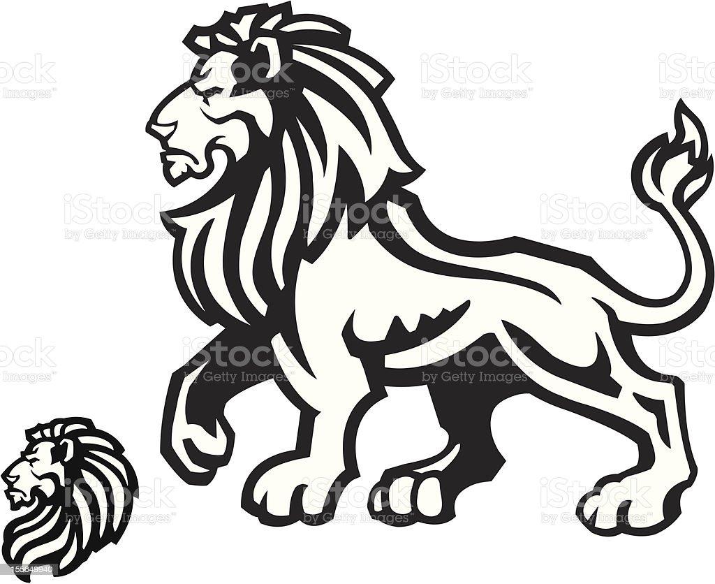 Lion Mascot Profile royalty-free stock vector art