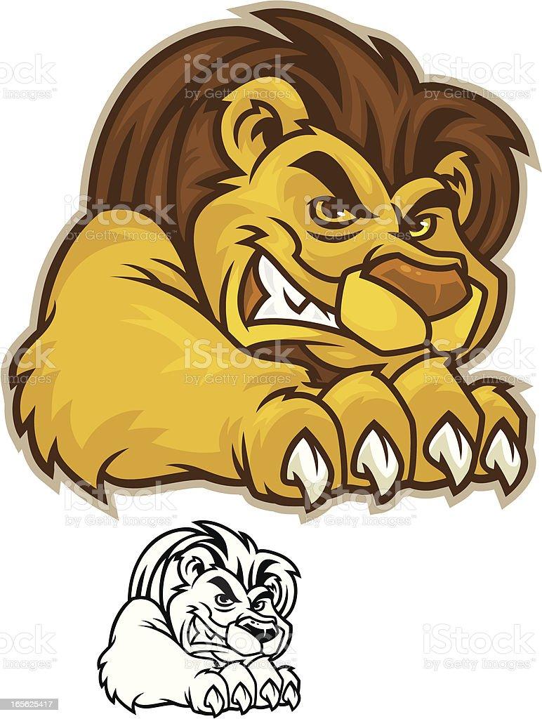 Lion Mascot Shred royalty-free stock vector art