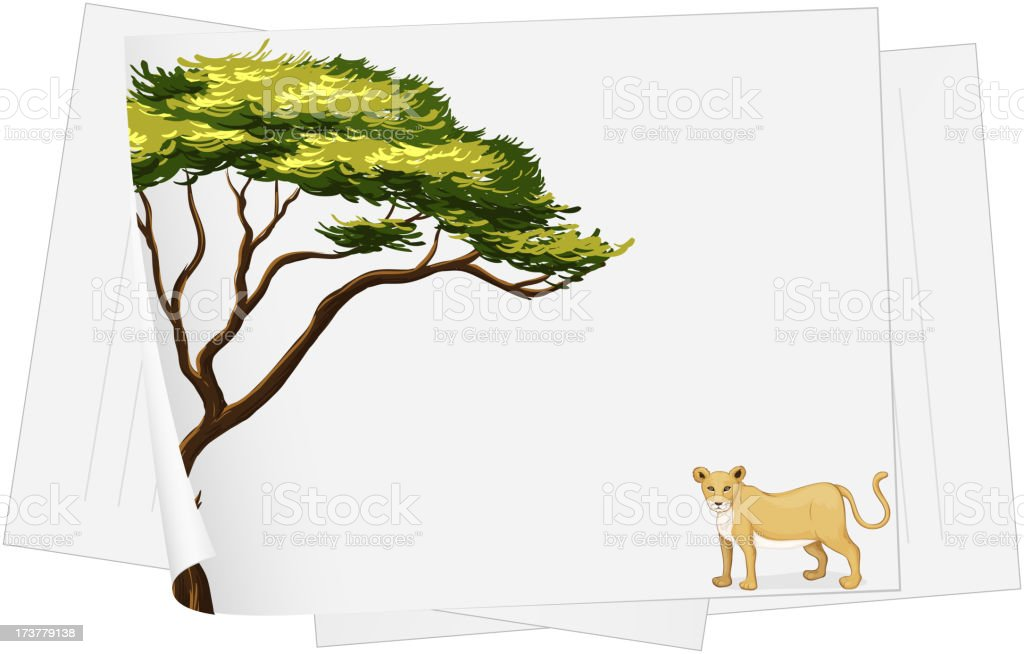 lion paper template royalty-free stock vector art