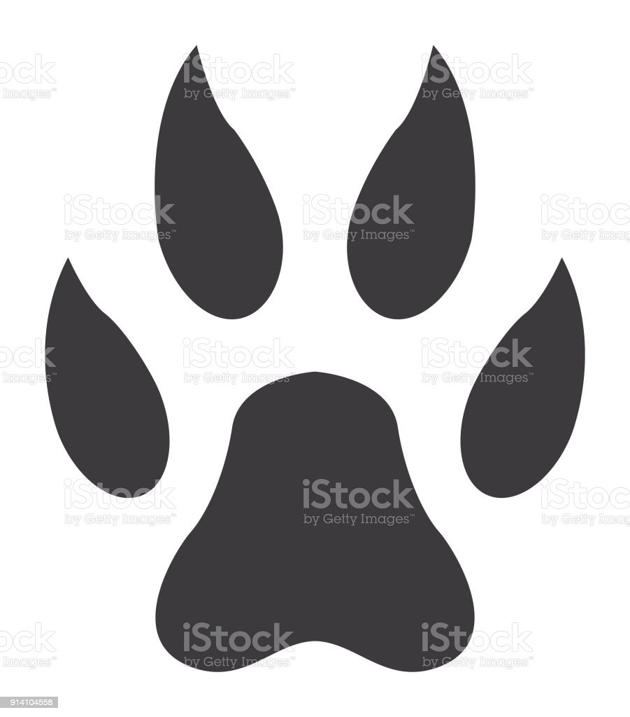 royalty free lion paw print clip art vector images illustrations rh istockphoto com mountain lion paw print clip art Paw Print Clip Art Black and White
