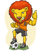 istock Lion playing soccer 165818953