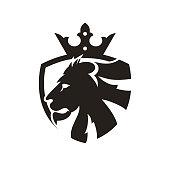 Lion, Shield, Crown, Wildlife, Animal