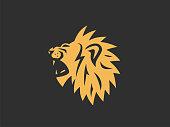 Lion sign. Vector format.
