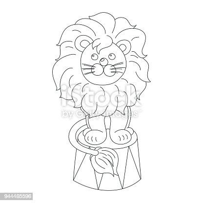 Ilustración de León Sentado En Un Esquema De Vector Arena Circo y ...