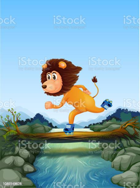 Lion skating in nature vector id1085149628?b=1&k=6&m=1085149628&s=612x612&h=xfyrhdswxc0dh5jibef5atohwaef0cptnc2lgwfyoww=
