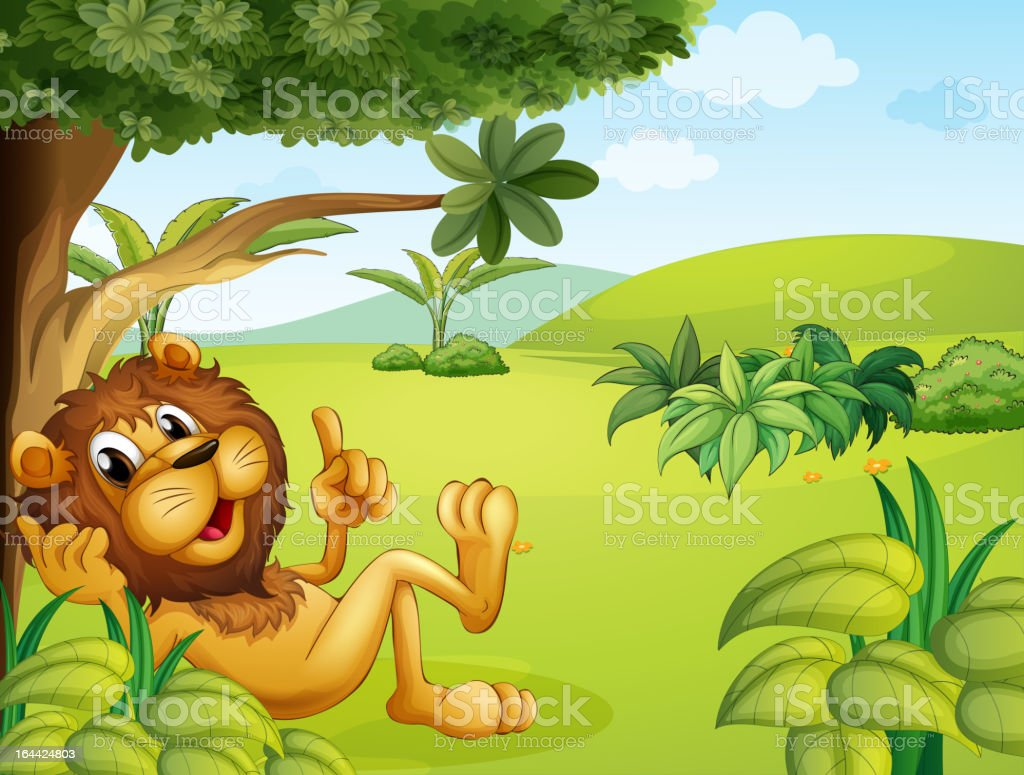 Lion taking a rest royalty-free stock vector art