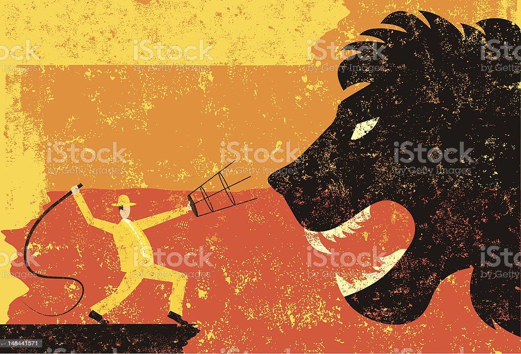lion tamer royalty-free stock vector art