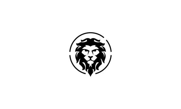 illustrations, cliparts, dessins animés et icônes de lion vintage logo icône vecteur - lion
