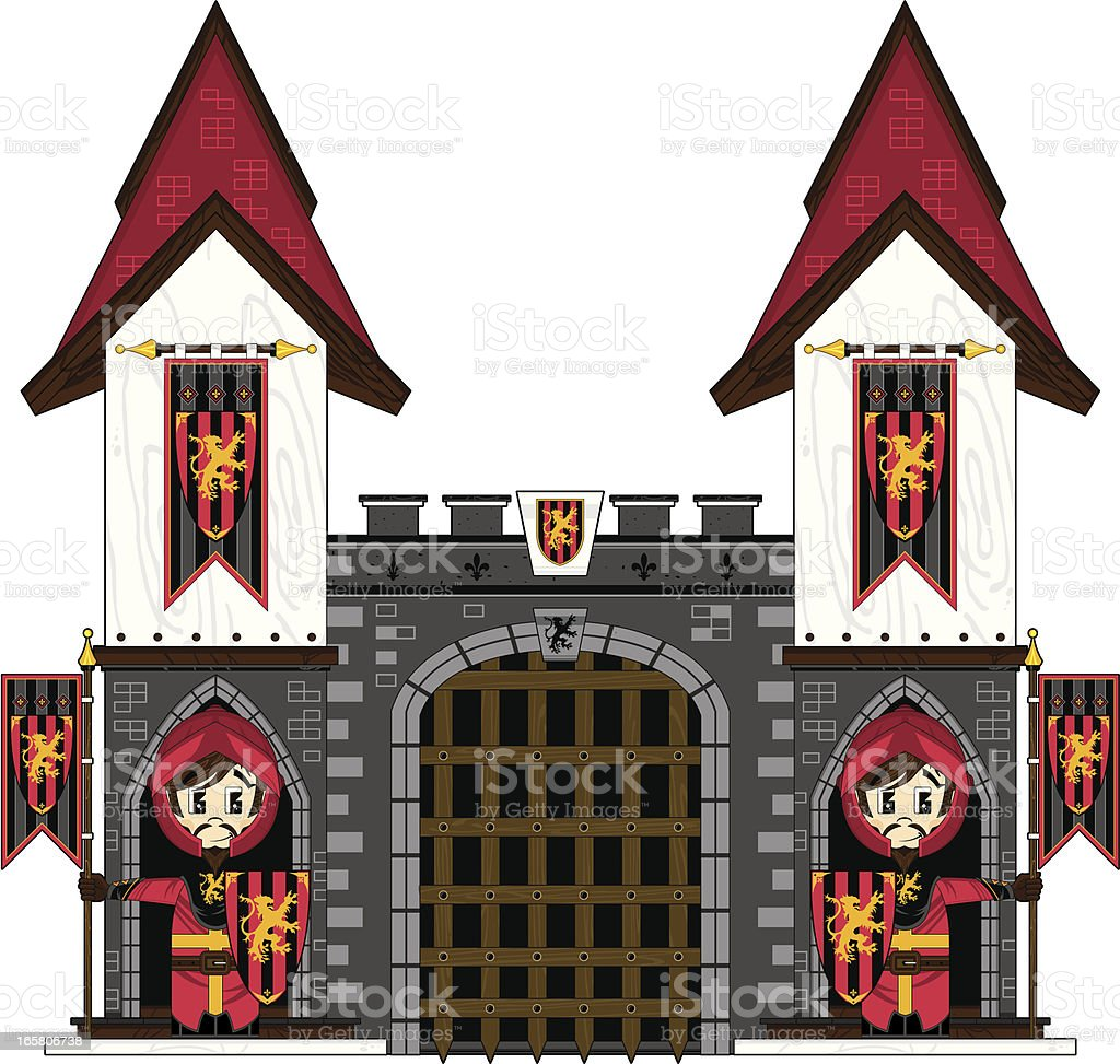 Lionheart Knights at Castle Gates royalty-free lionheart knights at castle gates stock vector art & more images of adult