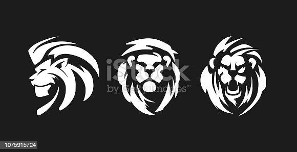 Lion symbols. Lions emblem Design.