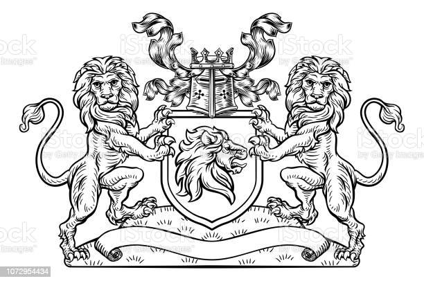 Lions crest shield coat of arms heraldic emblem vector id1072954434?b=1&k=6&m=1072954434&s=612x612&h=pnxv1novqvc46c1ogxbztiduseykkkpofjlcxnuksf0=