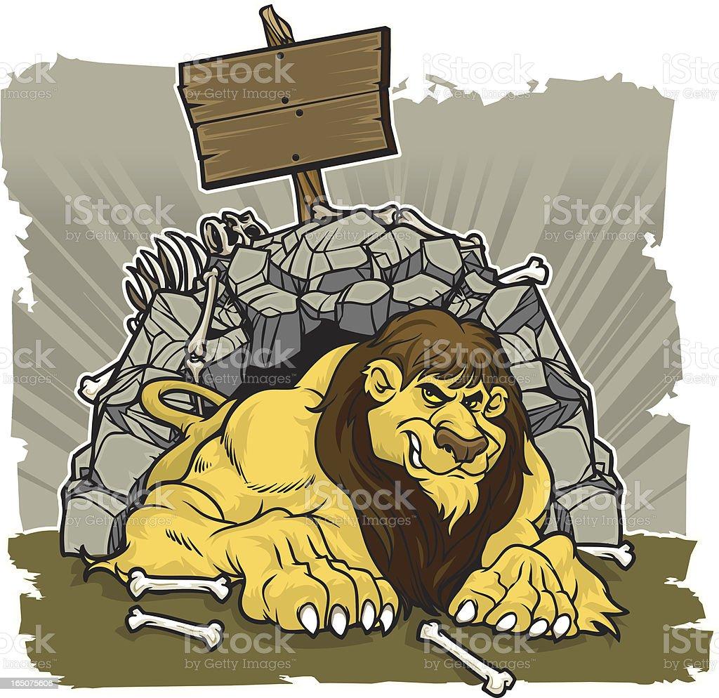 Lions Den royalty-free stock vector art
