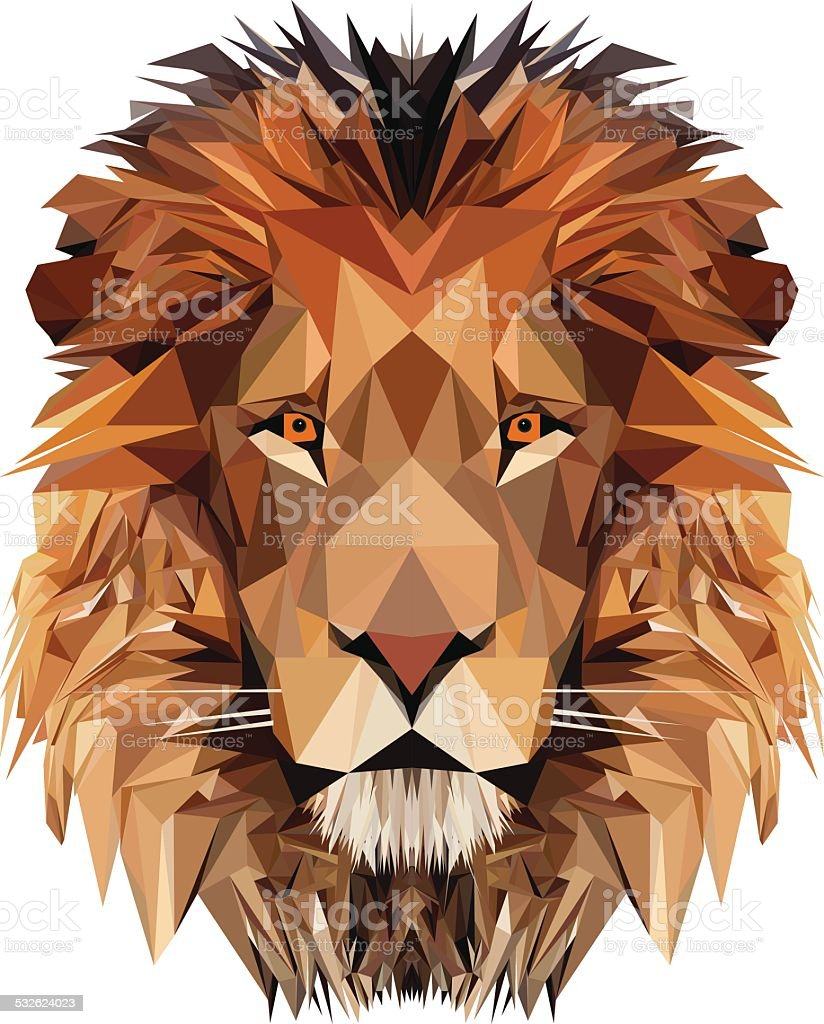 Lion's Head vector art illustration